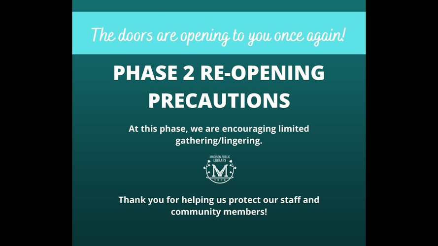 Phase 2 Re Opening Precautions