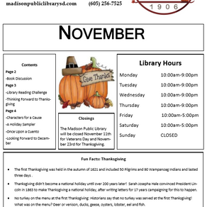 November Newsletter + Happenings