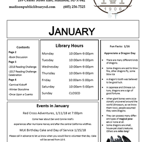 January Newsletter + Happenings