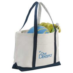 Cotton Canvas Zip Top Bag $25