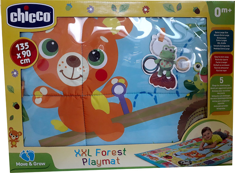 CHICCO XXL FOREST PLAYMAT TAPPETO GIOCO 135X90 LAVABILE IN LAVATRICE