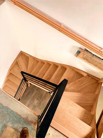 Hv concept menuiserie bois escalier ramp