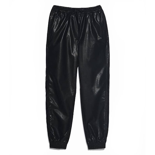 Faux Leather Jogging Trousers