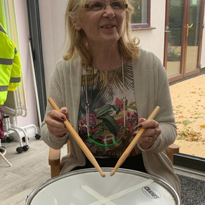 Peaceful People practice for Music Therapy- returning this autumn.