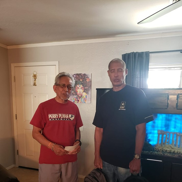 Many thanks to Humphrey Hassing who delivered two Veteran life bags filled with amazing products to encourage 2 Veterans for October. Please IM me with a Veteran who could use some encouragement, who might be homeless, or in a life transition.