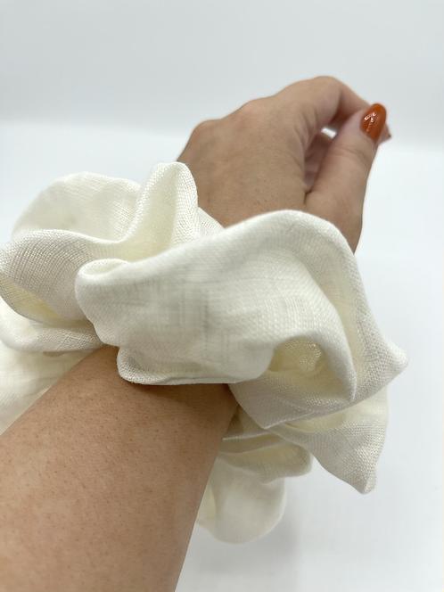 The Ivory Linen Scrunchie