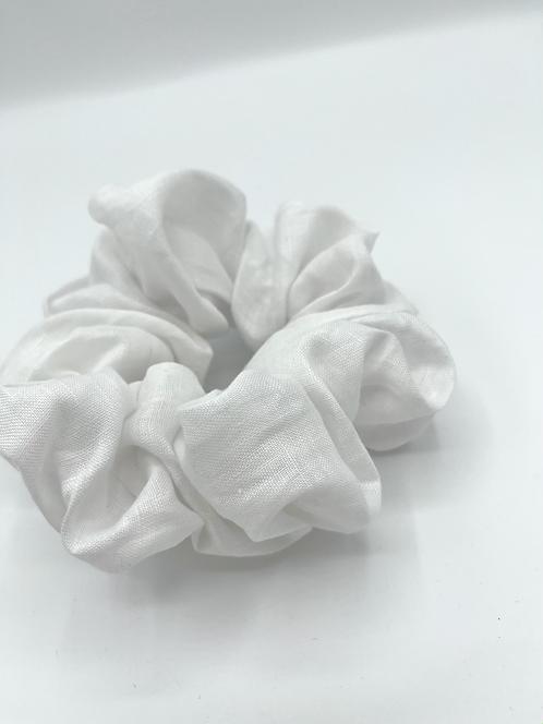 The White Linen Scrunchie