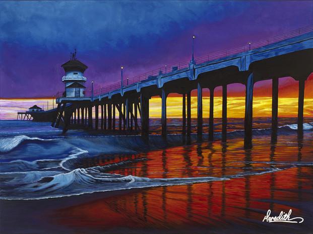 Purple Sunset over Huntington Beach emai