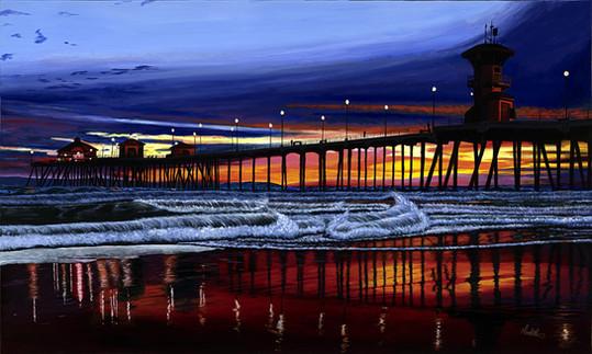 Red Sunset over Huntington Beach email v
