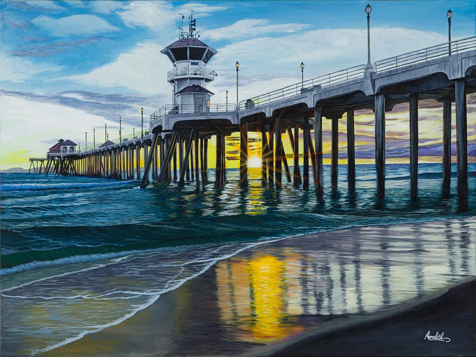 HB Pier Sunset Yel-Blue v1 40x30.jpg