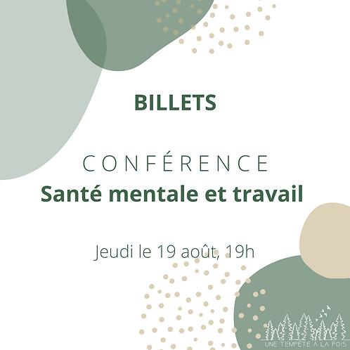 Conférence - Santé Mentale et Travail
