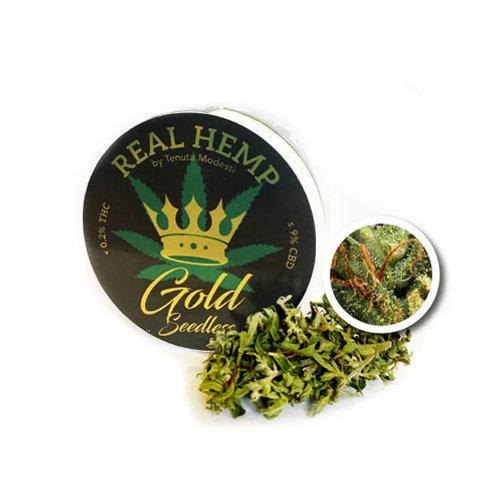 REAL HEMP GOLD Seedless - Infiorescenze TIBORSZALLASI - 4g • CBD 9%