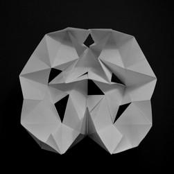 scultura, carta, 20x20 cm, 2017