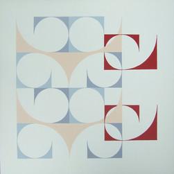 composizione 11, acrilico su tavola, 50x50 cm, 2014 (Galleria Scoglio di Quarto, Milano)