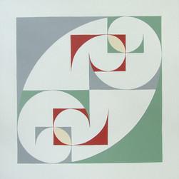 composizione 13, acrilico su cartone, 50x50 cm, 2014 (Galleria Scoglio di Quarto, Milano)