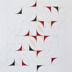 composizione 15, acrilico e inchiostro su tavola, 90x90 cm, 2015