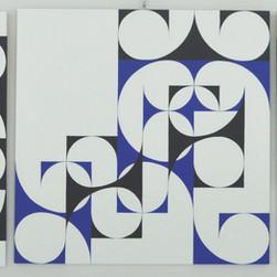 composizione 19abc, trittico, acrilico su tavola, 270x90 cm, 2015