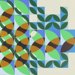 composizione 06, acrilico su tavola, 100x100 cm, 2014