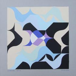 composizione 27, acrilico su cartone, 50x50 cm, 2012