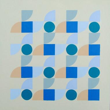 composizione 05, acrilico su cartone, 50x50 cm, 2014