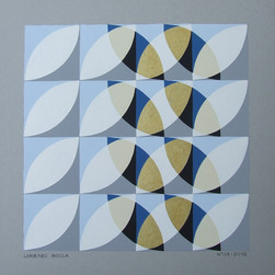 composizione 09, acrilico su cartone, 50x50 cm, 2012