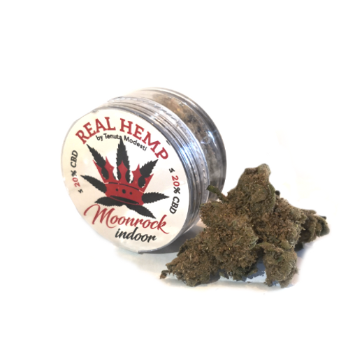 REAL HEMP MOONROCK Indoor - Infiorescenze e Kief- 1g • CBD 20%