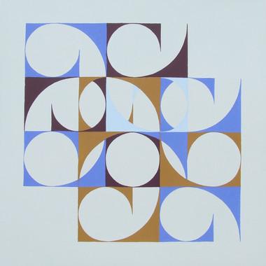 composizione 09, acrilico su cartone, 50x50 cm, 2014