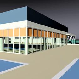 """Complesso sportivo delle piscine """"Andreana"""" ad Orzinuovi (Brescia), 2005"""