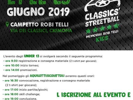 Il Classics' Streetball anche per i più giovani!