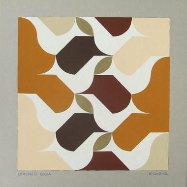 composizione 22, acrilico su cartone, 50x50 cm, 2012