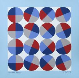 composizione 01, acrilico su cartone, 50x50 cm, 2013