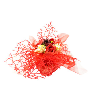 Red Tulle Flowers #7