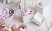 White & Pink Classic Almonds gift boxes