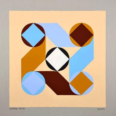 composizione 10, acrilico su cartone, 50x50 cm, 2011 (collezione privata)