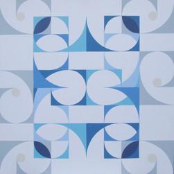 composizione 01, acrilico su tavola, 100x100 cm, 2015