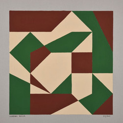 composizione 25, acrilico su cartone, 50x50 cm, 2011