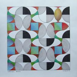 composizione 32, inchiostro e matite su carta, 50x50 cm, 2012
