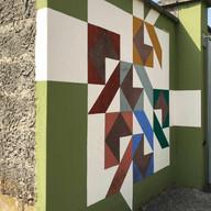 opera parietale, abitazione privata, San Bassano, Cremona, Italia, 2014/2019