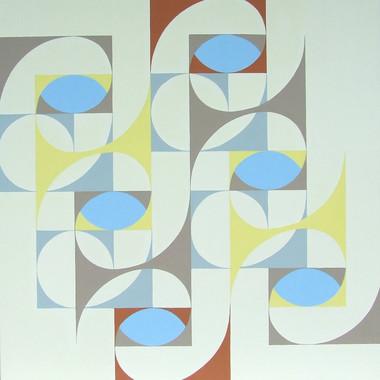 composizione 10, acrilico su tavola, 100x100 cm, 2014