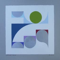 composizione 55, acrilico su cartone, 50x50 cm, 2011