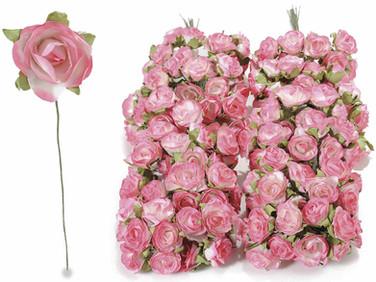 Pink Roses w leaflets