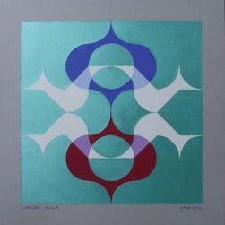 composizione 28, acrilico su cartone, 50x50 cm, 2012