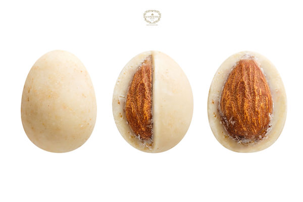 Sugared almond dragee isolated on white
