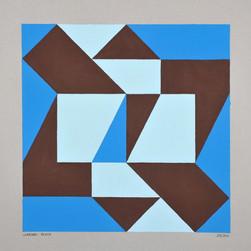 composizione 27, acrilico su cartone, 50x50 cm, 2011