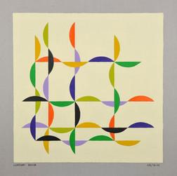 composizione 03, acrilico su cartone, 50x50 cm, 2011 (collezione privata)