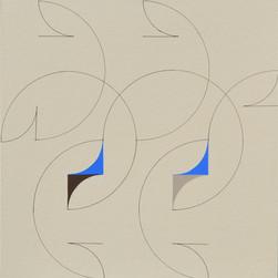 composizione 11, acrilico e inchiostro su tavola, 50x50 cm, 2015 (Museum of Geometric and Madi Art, Dallas)
