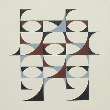 composizione 08, acrilico su cartone, 50x50 cm, 2014 (collezione privata)