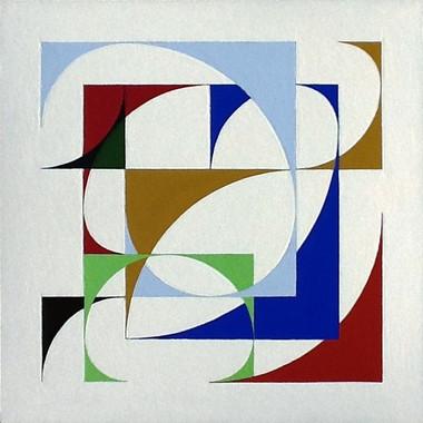 composizione, logo Museo Arte Irregolare, acrilico su cartone, 50x50 cm, 2013 (collezione privata)