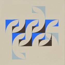 composizione 14, acrilico su tavola, 50x50 cm, 2015 (Museum of Geometric and Madi Art, Dallas)