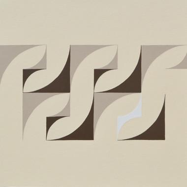 composizione 13, acrilico su tavola, 50x50 cm 2015 (Museum of Geometric and Madi Art, Dallas)